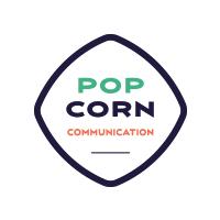 logo Popcorn Communication agence partenaire du Landi FC
